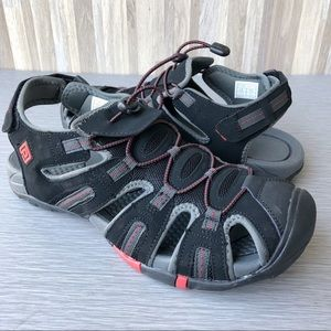 Dream Pairs Black Red Adventurous Outdoor Sandals